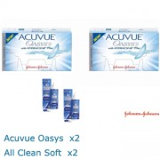 PACK - 2x Acuvue Oasis 2x All Clean soft