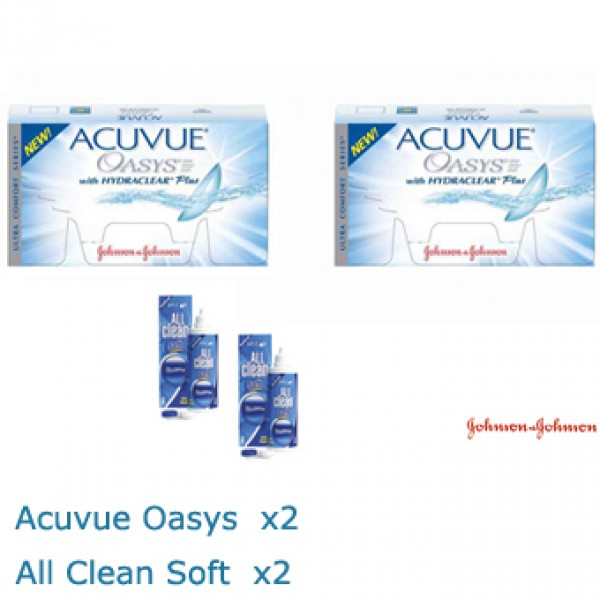 d6079713e8264 PACK - 2x Acuvue Oasis 2x All Clean soft