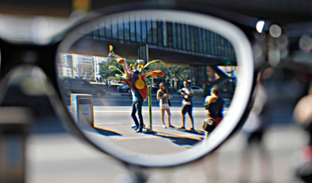 A visão com miopia
