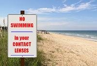 Nadar com lentes de contato